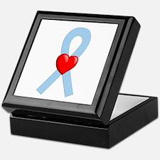 Lt Blue Ribbon Keepsake Box