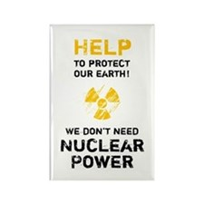 HELP to protect - black Rectangle Magnet