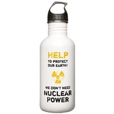 HELP to protect - black Water Bottle