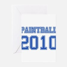 """""""Paintball 2010"""" Greeting Cards (Pk of 20)"""