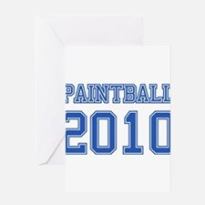 """""""Paintball 2010"""" Greeting Card"""