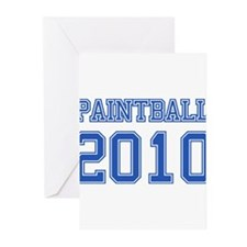 """""""Paintball 2010"""" Greeting Cards (Pk of 10)"""
