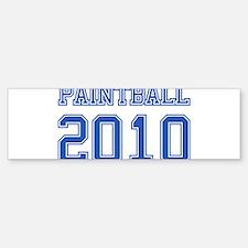 """""""Paintball 2010"""" Bumper Bumper Sticker"""
