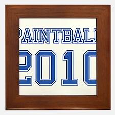 """""""Paintball 2010"""" Framed Tile"""