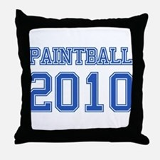 """Paintball 2010"" Throw Pillow"