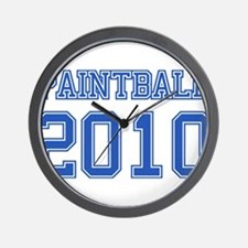 """Paintball 2010"" Wall Clock"