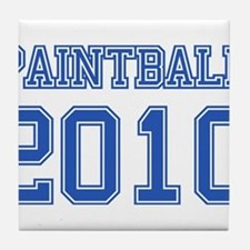 """Paintball 2010"" Tile Coaster"