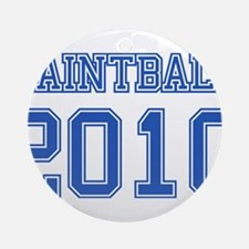 """Paintball 2010"" Ornament (Round)"