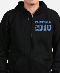 """Paintball 2010"" Zip Hoodie (dark)"