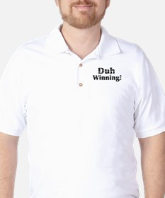 Vintage Duh Winning! Golf Shirt