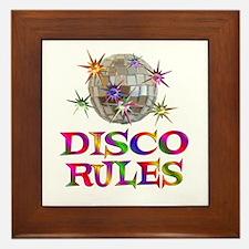 Disco Rules Framed Tile