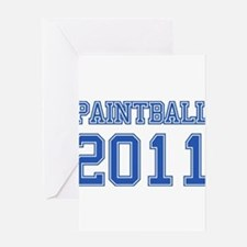 """Paintball 2011"" Greeting Card"