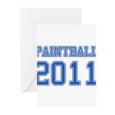 """""""Paintball 2011"""" Greeting Cards (Pk of 10)"""