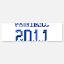 """""""Paintball 2011"""" Bumper Bumper Sticker"""
