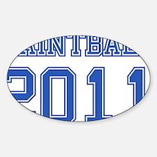 """Paintball 2011"" Sticker (Oval)"