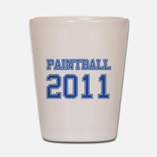 """Paintball 2011"" Shot Glass"
