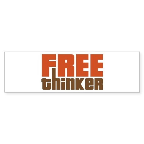 Free Thinker Sticker (Bumper)