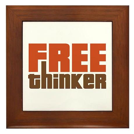 Free Thinker Framed Tile