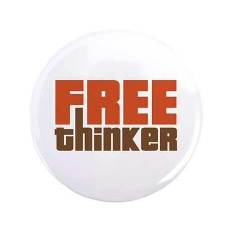 """Free Thinker 3.5"""" Button (100 pack)"""