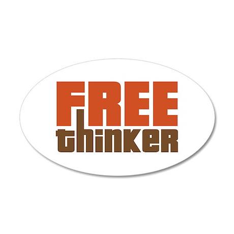 Free Thinker 22x14 Oval Wall Peel