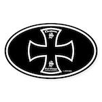 Custom Surf Shop Oval Sticker