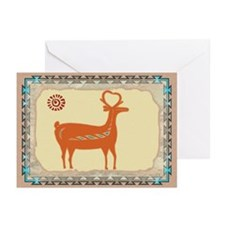 Santo Domingo Deer Greeting Cards (Pk of 10)
