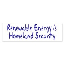 renewable energy... Bumper Bumper Sticker