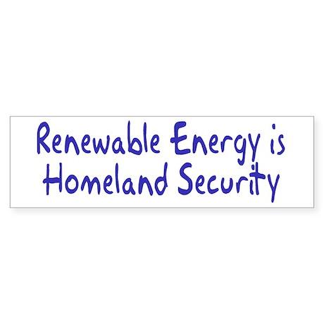 renewable energy... Bumper Sticker