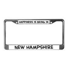 Happiness is New Hampshire License Plate Frame