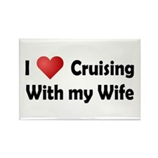 Cruising with my Wife Rectangle Magnet