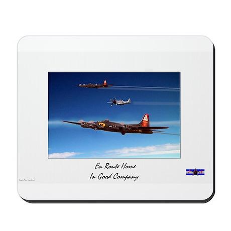 Plane Crazy Artwork B17 En Route Home Mousepad