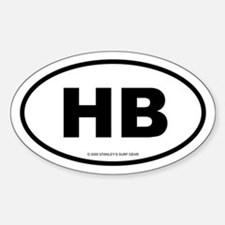 SURFCITY EURO HB Oval Decal
