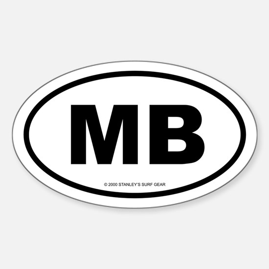 SURFCITY EURO MB Oval Decal