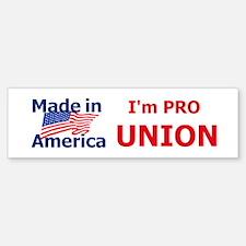 Pro UNION Bumper Bumper Sticker