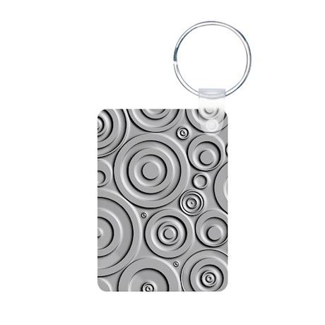 Metallic Circles Aluminum Photo Keychain Keychains