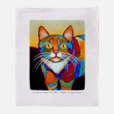 Cat-of-Many-Colors Throw Blanket