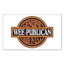 Genuine Wee-publican Rectangle Decal