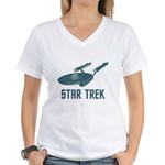 Retro Enterprise Women's V-Neck T-Shirt