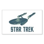 Retro Enterprise Sticker (Rectangle 10 pk)