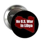 No U.S. War in Libya activist button