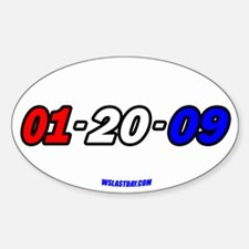 R,W, & B Date Oval Decal