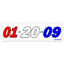 R,W, & B Date Bumper Car Sticker