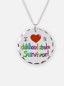 childhood stroke survivor Necklace