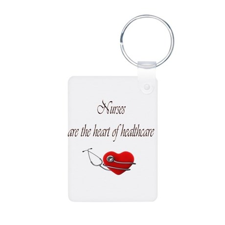 Heart of Healthcare Aluminum Photo Keychain