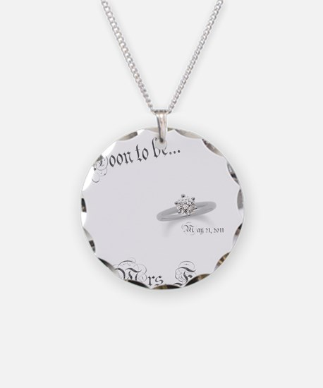 Soon ti be Mrs. Forshee Necklace Circle Charm