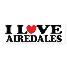 I Love Airedales Bumper Bumper Sticker