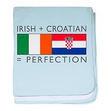 Irish Croatian flags baby blanket