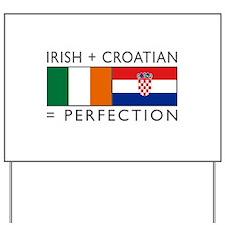 Irish Croatian flags Yard Sign