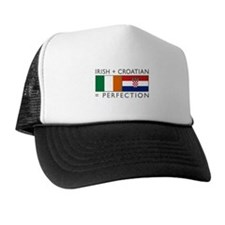 Irish Croatian flags Trucker Hat