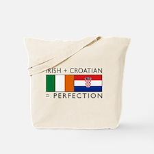 Irish Croatian flags Tote Bag